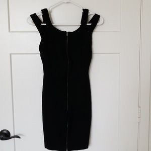 H&M Sexy strap zip up party black tight dress